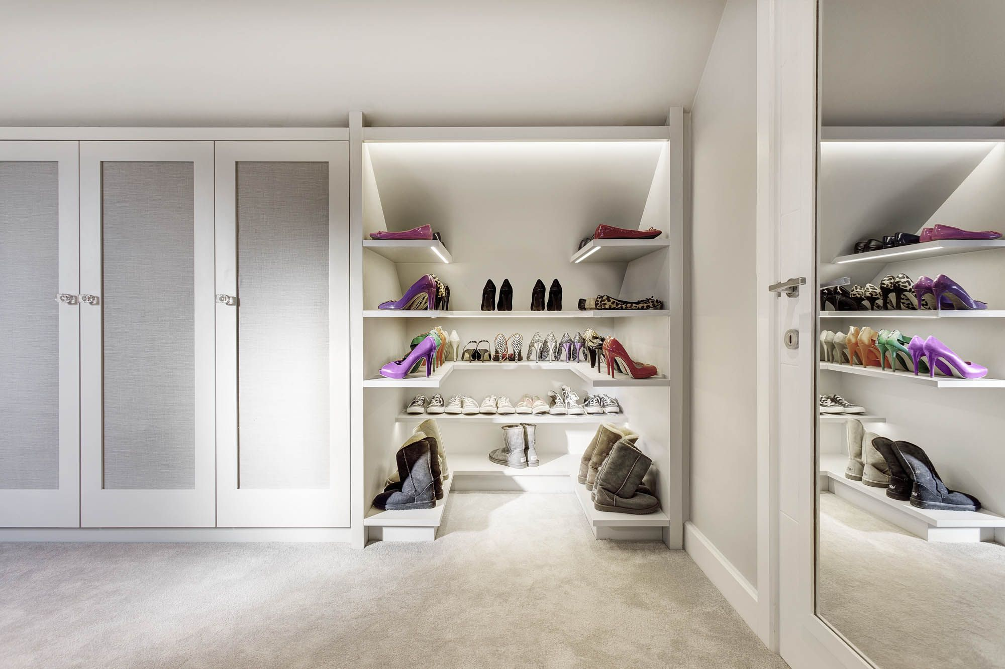 Bespoke Shoe Storage In Dressing Room Project Photography By Wwwmartingardnercom