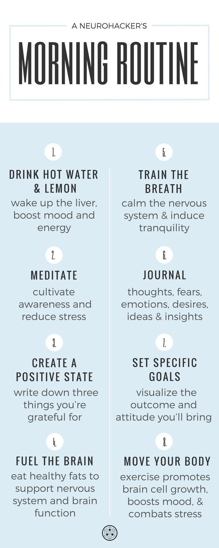 Set your day up for a win by creating a self-care morning routine. #neurohacker #DailyMeditationTipsDude #AntiagingAloeVera #morningroutine