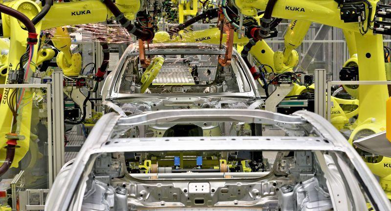 Kuka, Porsche, Panamera, Industrie, digitalisierung, roboter, robotik, automobilproduktion, autoindustrie, automobilindustrie, Sachsen, Leipzig, Metall, Maschine, Automatisierung,