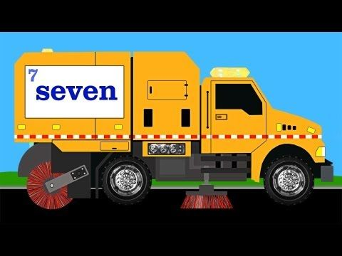 6 Street Sweeper Number Counting Learn To Count 1 To 10 For