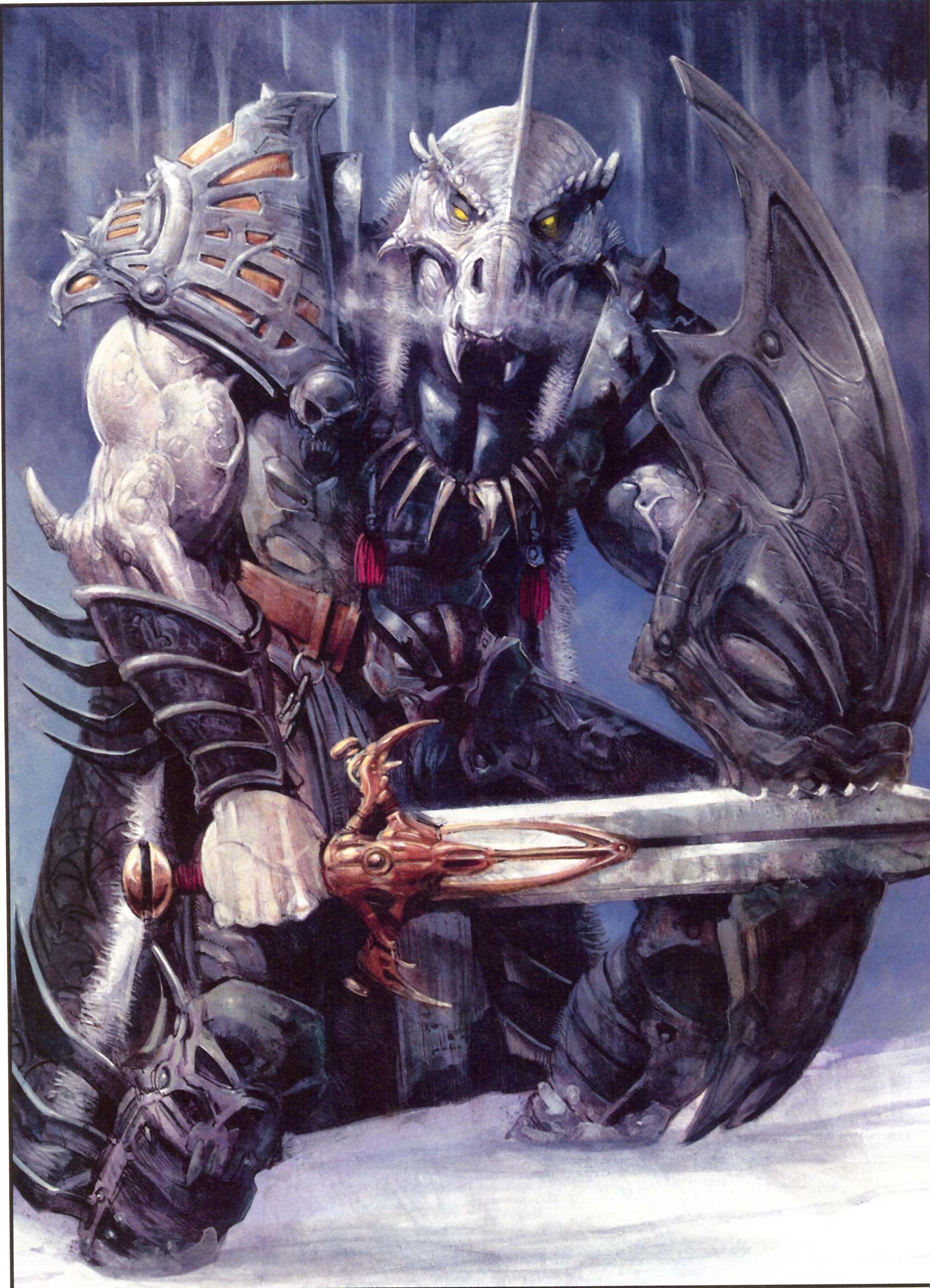 Dnd White Dragon: Half Dragon Warrior
