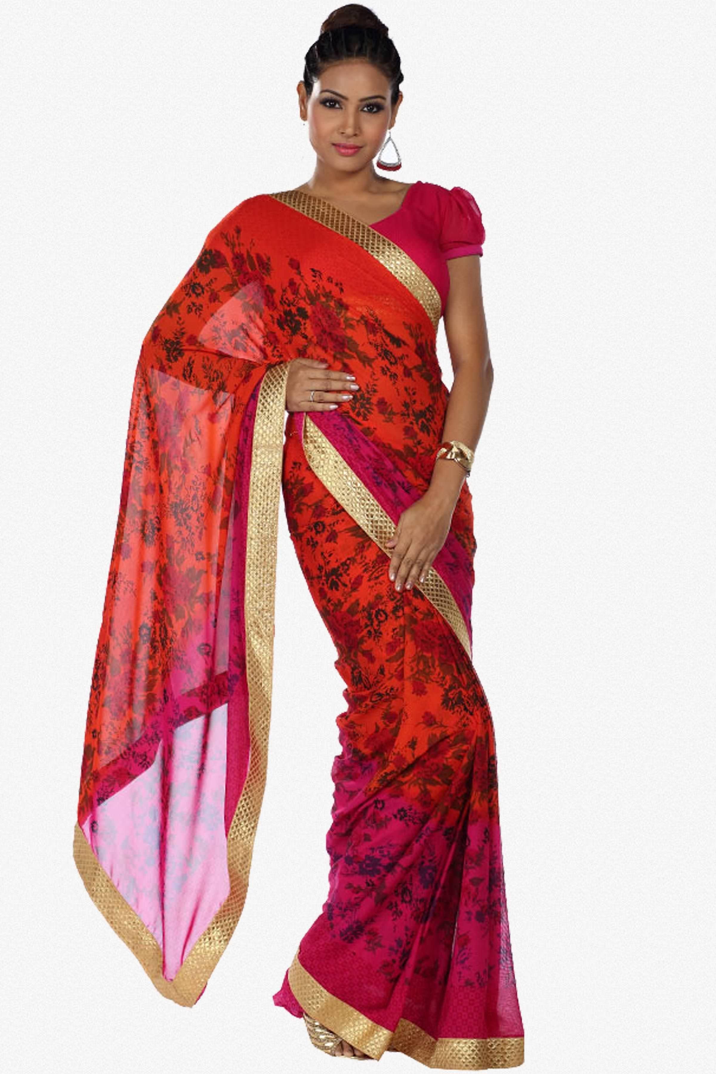 622109632 Designer Saree atisundar exquisite Designer Party Wear Saree in Red And  Pink - 13265