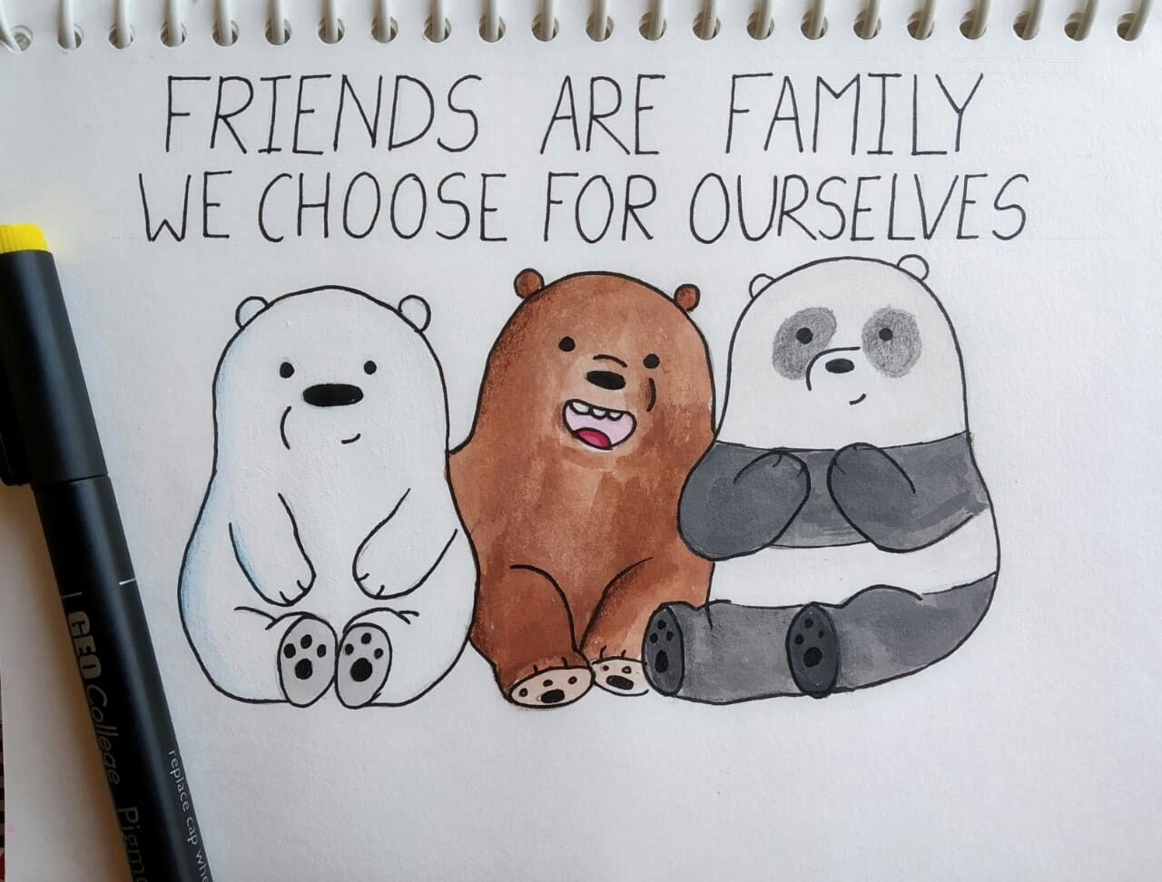We Bare Bear Drawing Cute Drawing Ideas Quote With Drawing Bullet Journal Idea Cute Christmas Drawings Bears Drawing Bear Drawing