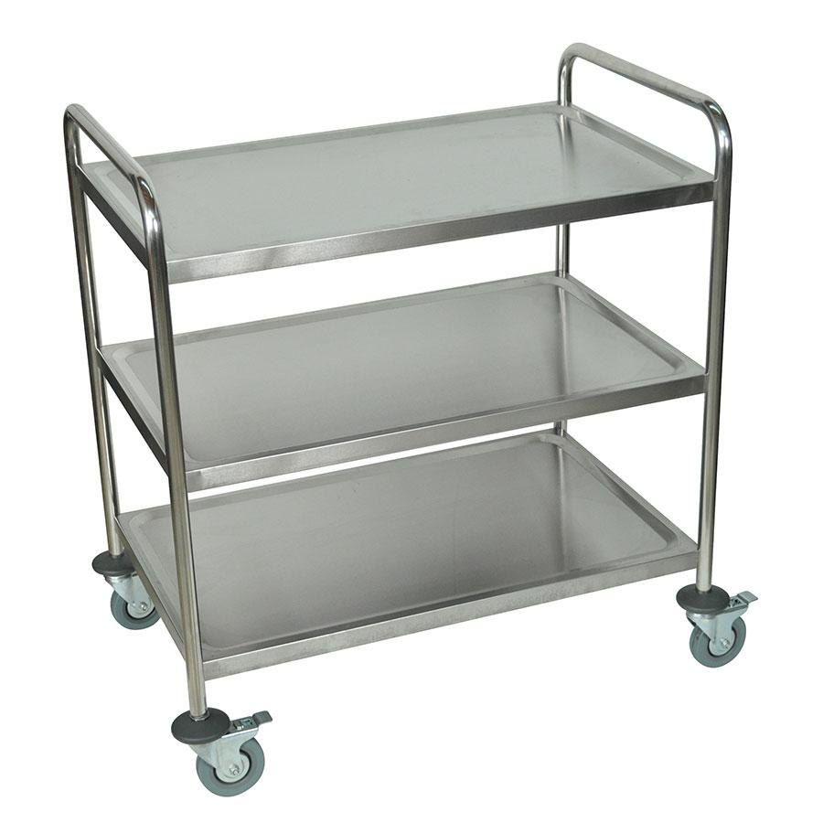 Luxor ST-3 3 Shelf Stainless Steel Utility Cart / Bus Cart