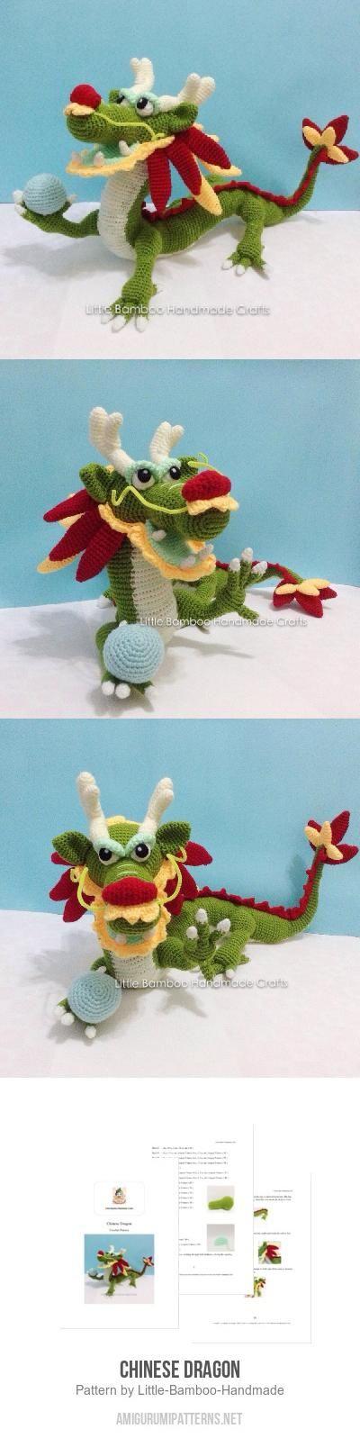 Chinese dragon amigurumi pattern by Little Bamboo Handmade | Drachen ...