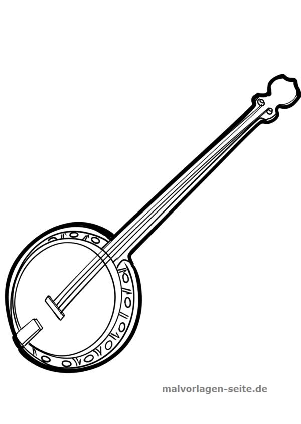 Malvorlage Banjo Musik Malvorlagen Banjo Vorlagen