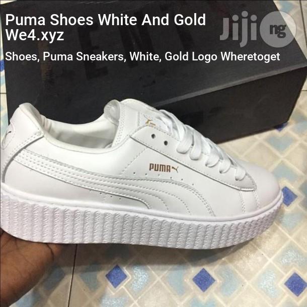 Gold   Pumas shoes, Blue puma shoes
