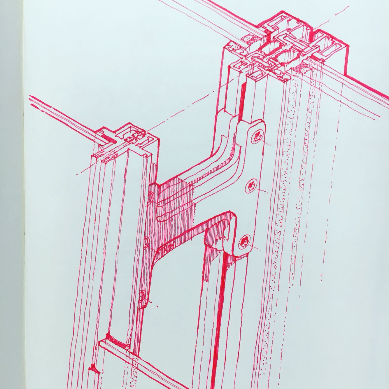 Mullion And Curtain Wall Isometric Detail Of The Shard