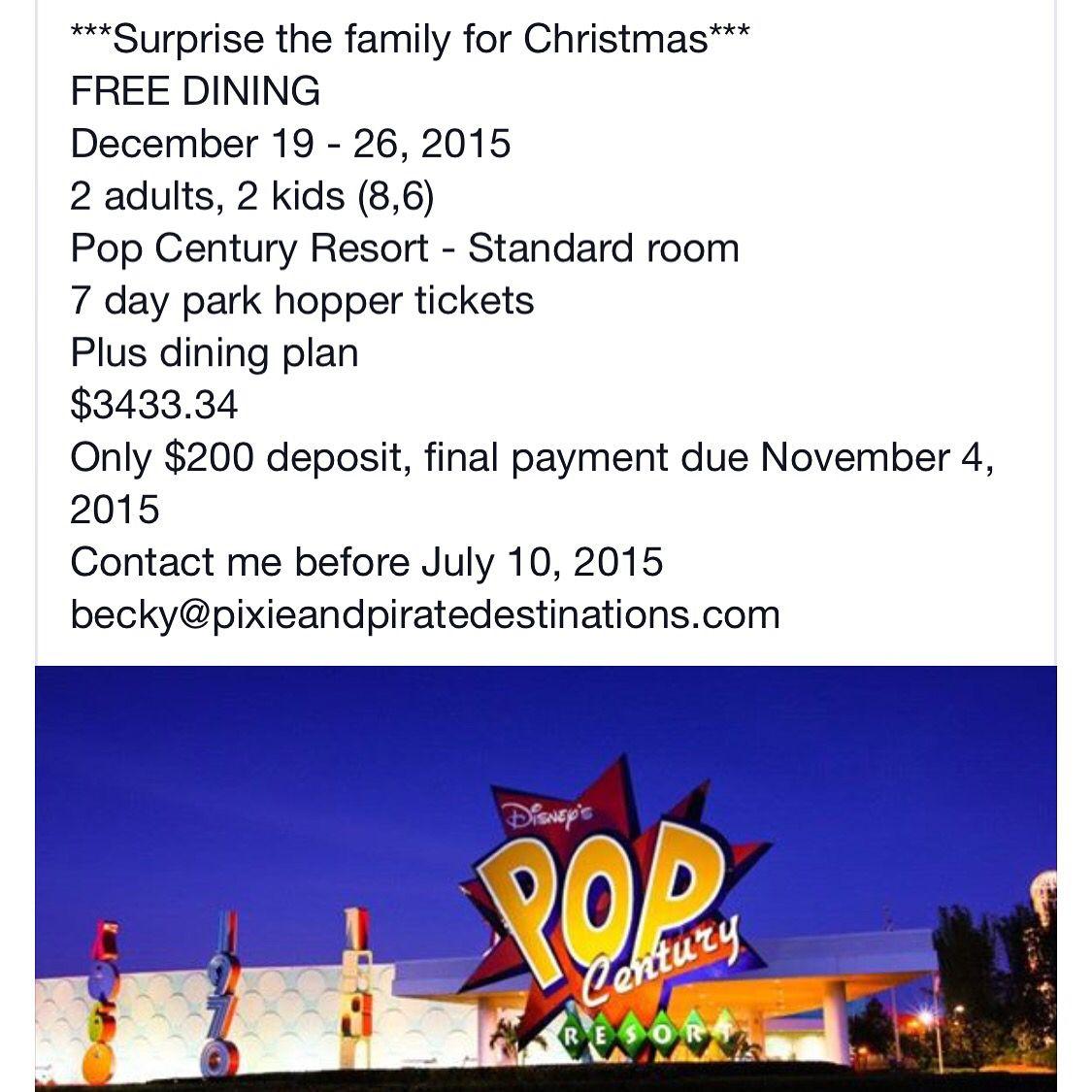 Christmas at Disney with FREE dining   Disney World   Pinterest