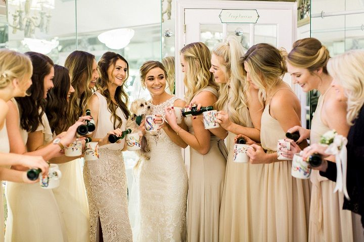 A Neutral Color Palette , champagne bridesmaid dresses #neutral #bridesmaids #winterwedding