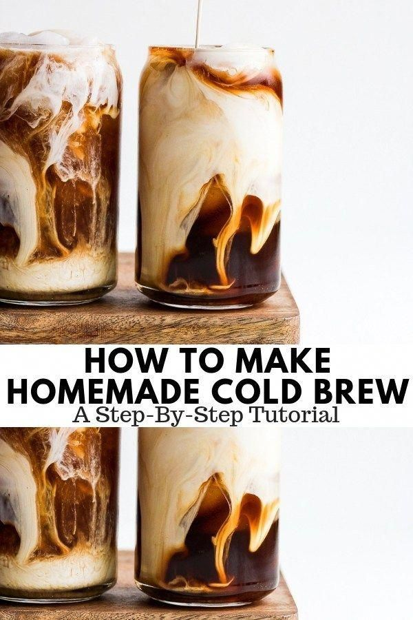 How to Make Cold Brew Coffee - a step-by-step tutorial on how to make cold brew at home!