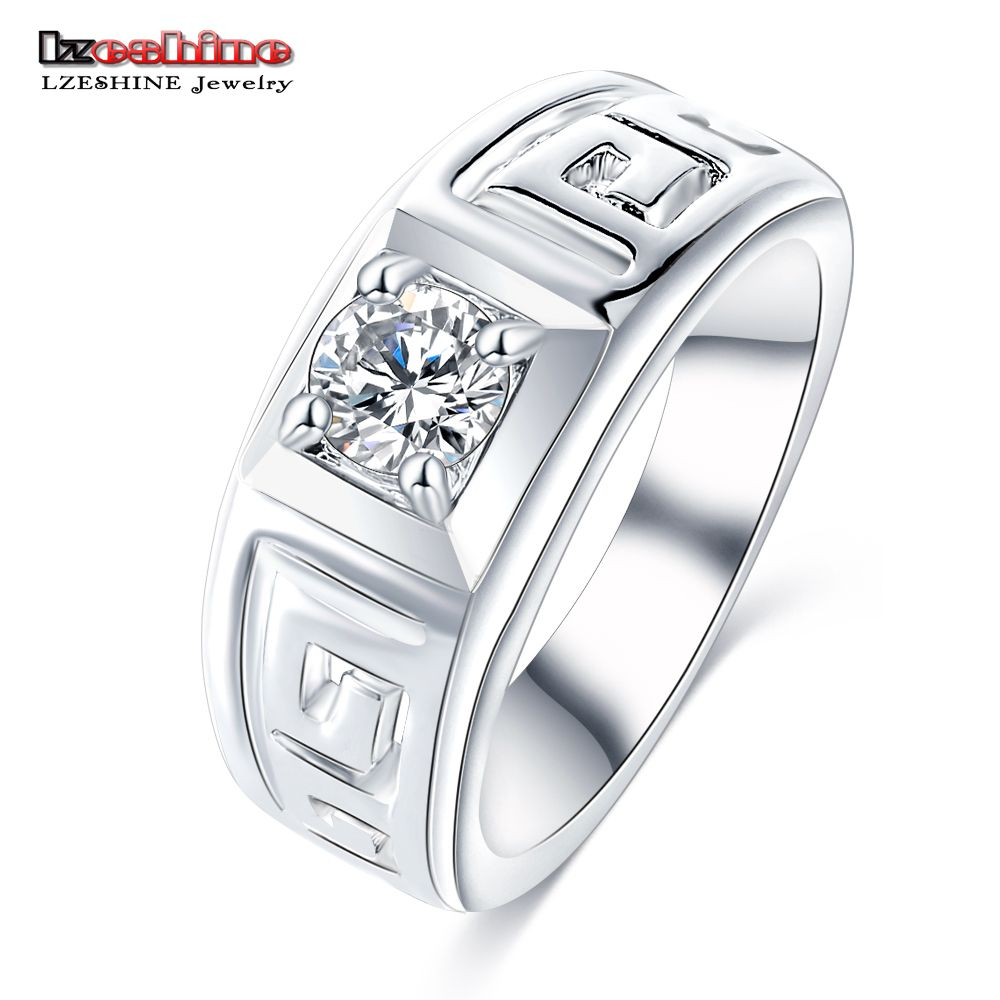 LZESHINE Newest Men\'s Ring Jewelry Wholesale Beauty Crystal Mens ...