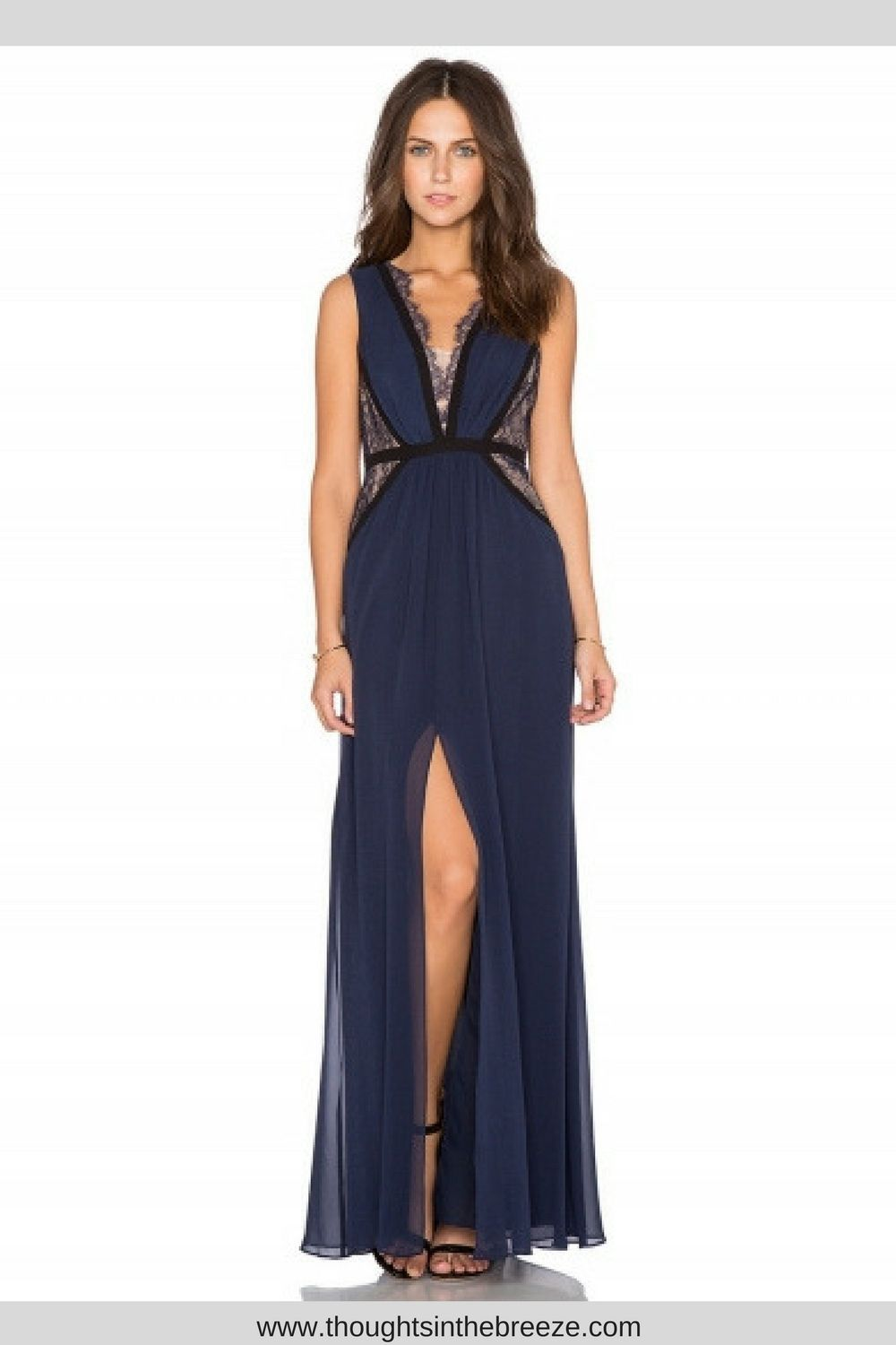 Womenus lace panel v neck high wasit maxi dress looking for an