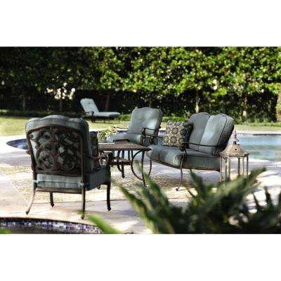 Home Decorators Collection Outdoor Madrid Bronze And Bermuda Patio Seating Set