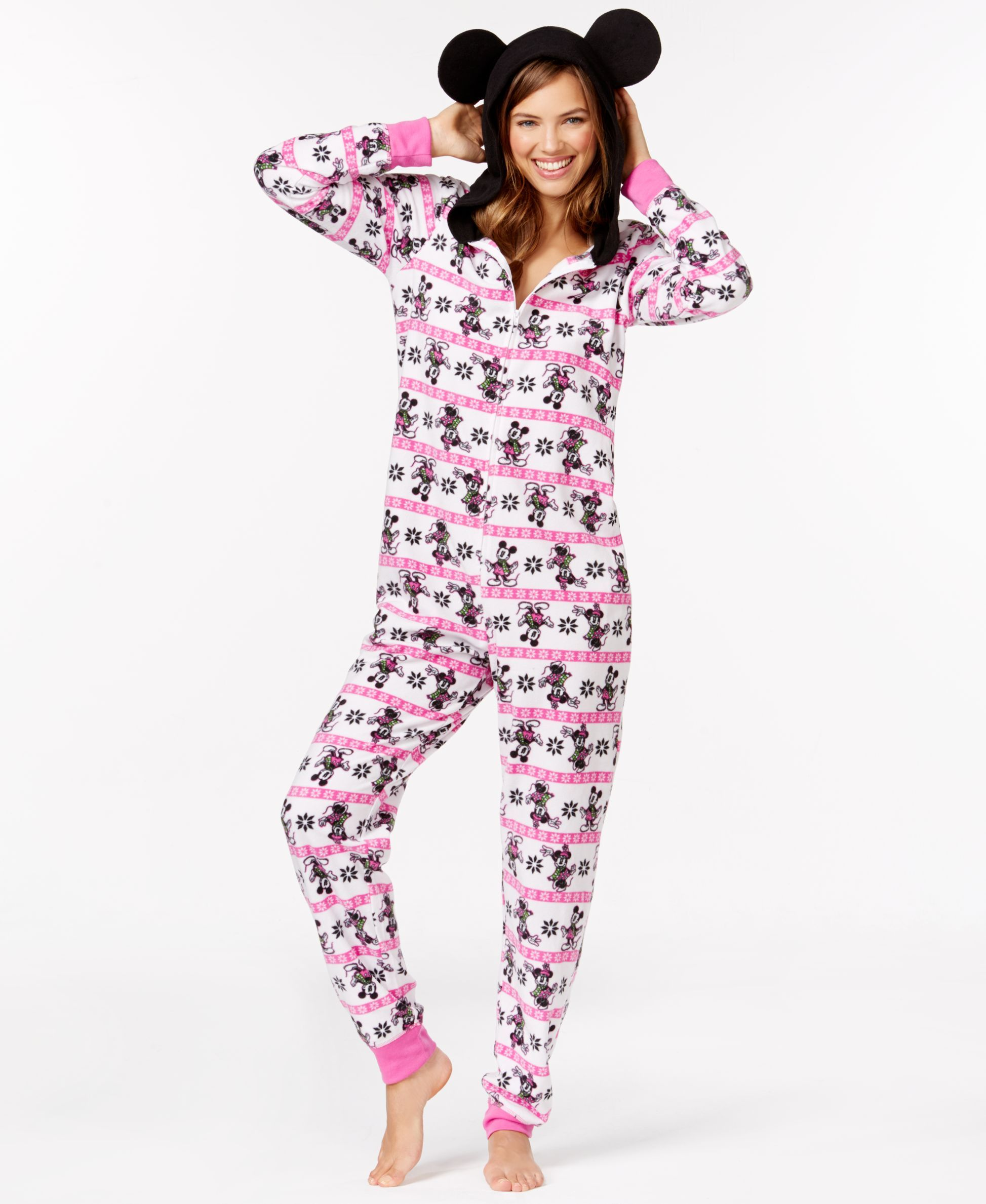 Minnie Mouse Adult Hooded Onesie - Bras dc70e5c9d