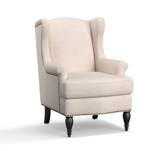 SoMa Delancey Petite Wingback Upholstered Armchair