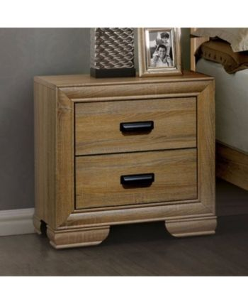 Wooden Night Stand With 2 Drawers Natural Wood Brown Brown