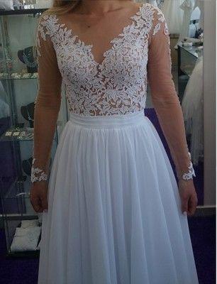 Suknia Slubna Muslin Siatka Transparentna Koronka Dresses Sleeveless Wedding Dress Wedding Dresses