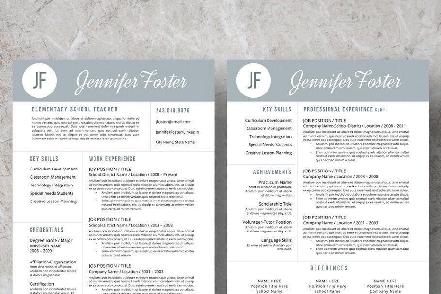 Ad Teacher Resume, Cover Letter, Ref. by Resume Foundry