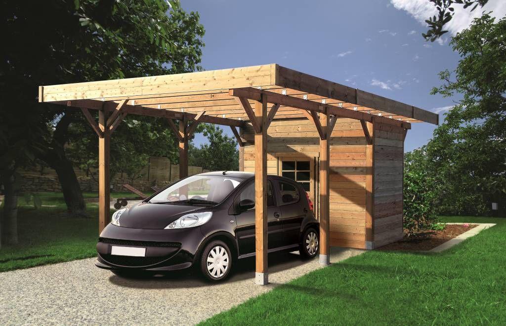 Carport + abri 3 m x 7 m Carport, Backyard design, Pergola