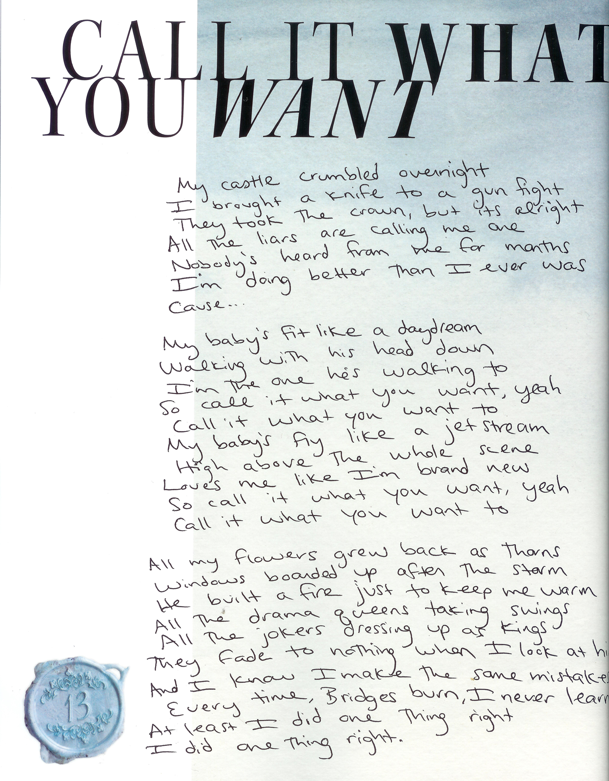 Tswiftdaily I Learned A Lot From Ethel Kennedy Tswiftly Handwritten Lyrics From Reputation Taylor Swift Lyrics Taylor Swift Song Lyrics Taylor Lyrics
