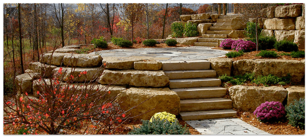 Minnesota Boulder Retaining Walls From Boulder Images Incorporated