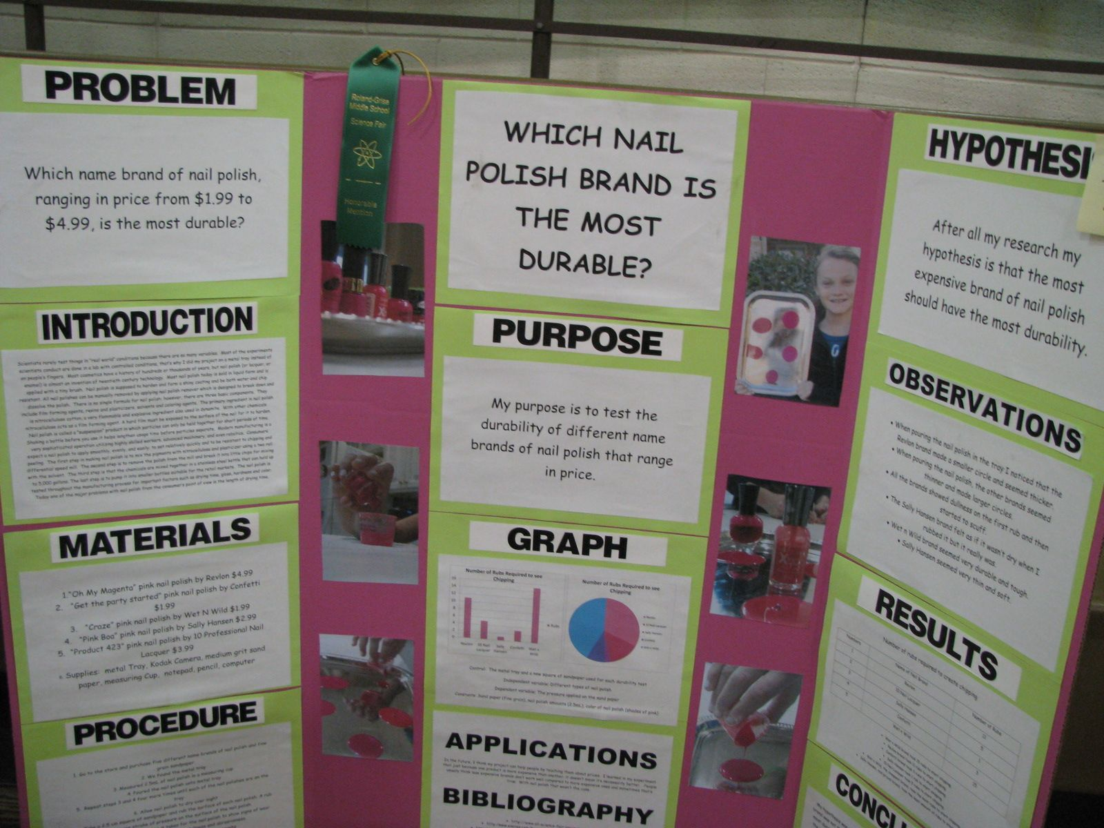 Nail Polish Science Fair Projects | Eco-houses, french fry testing ...
