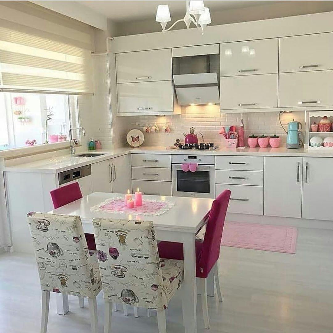 Mutlu Aksamlar Arkadaslar Kare Mutfaklari Cok Seviyorum Cok Guzel Deglimi Cok Zevk Diy Kitchen Decor Kitchen Cabinets And Countertops Simple Kitchen Design