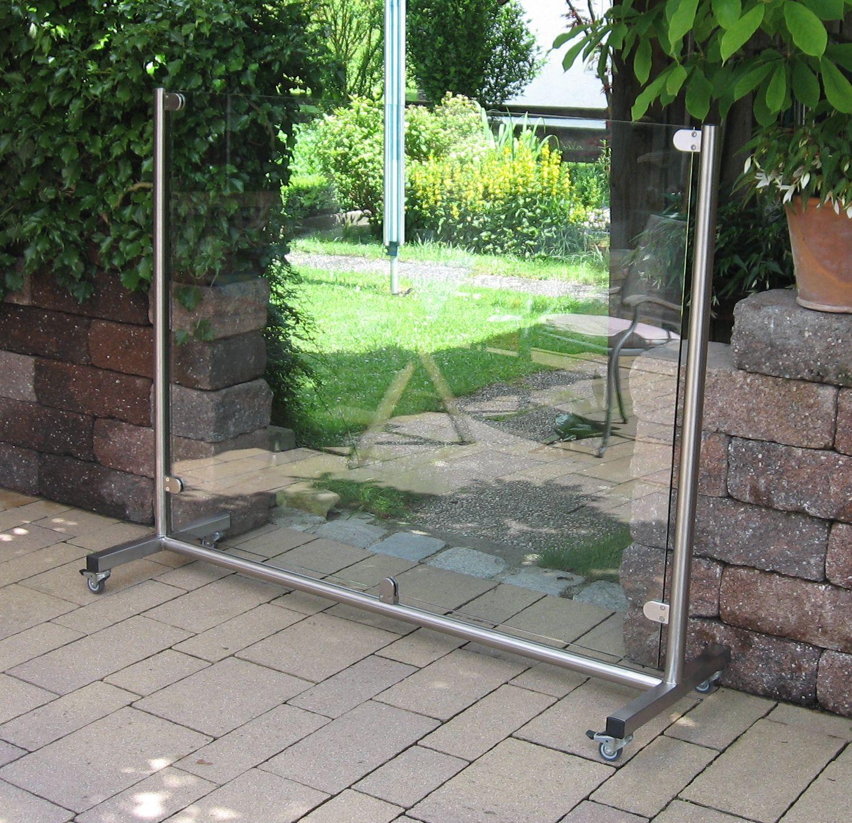 mobiler glas windschutz f r garten und terrasse windschutz und sichtschutz pinterest. Black Bedroom Furniture Sets. Home Design Ideas
