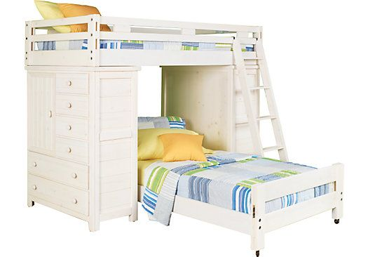 Shop For A Creekside White Wash Twin Twin Student Loft Bed W Chests At Rooms To Go Kids Find That Will Look Great In Yo With Images Bunk Bed With Desk