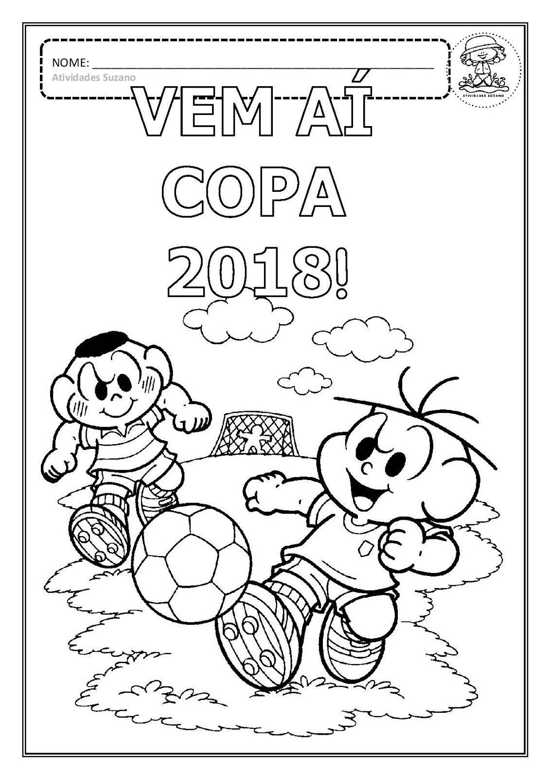 desenhos para colorir copa 2018 em pdf atividades pinterest