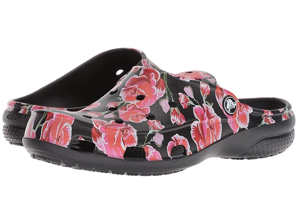 badc0647e5c1f Crocs Freesail Graphic Clog (Multi Rose/Black) Women's Clog/Mule ...