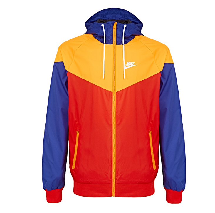 NIKE WIND RUNNER MENS SPORT JACKET ORANGE DEEP ROYAL BLUE MULTICOLOR 727325  458 671 423 453