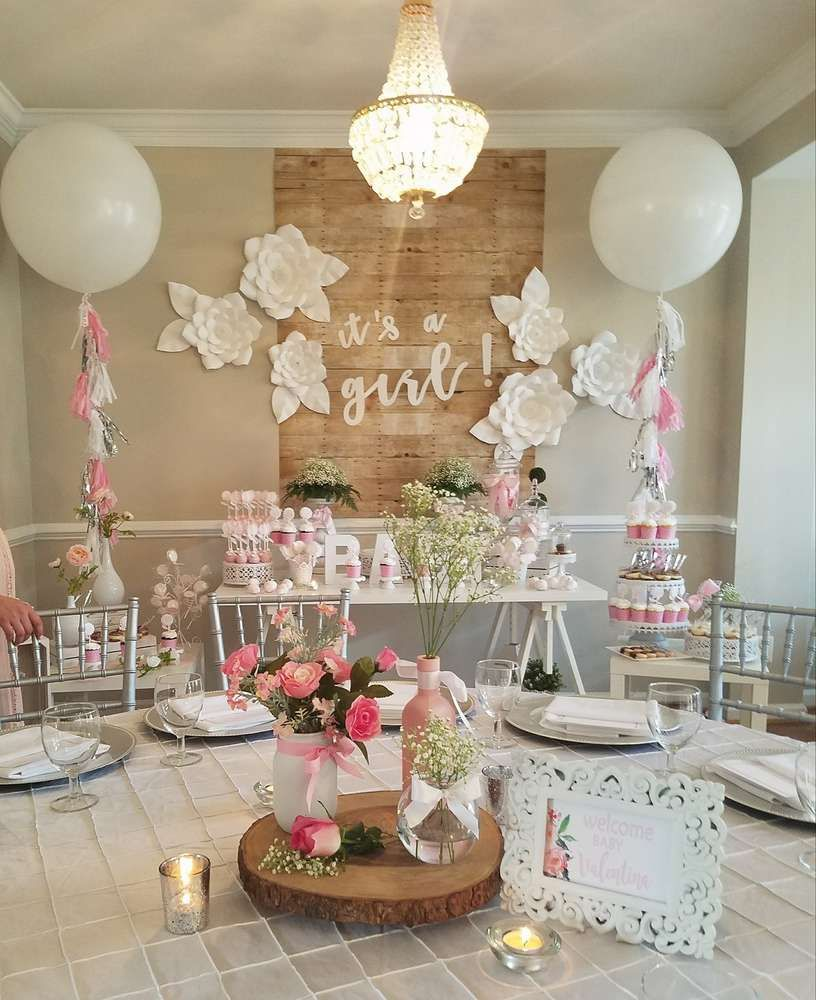Baby Shower Party Ideas in 2019  baby shower  Girl baby shower decorations Baby shower