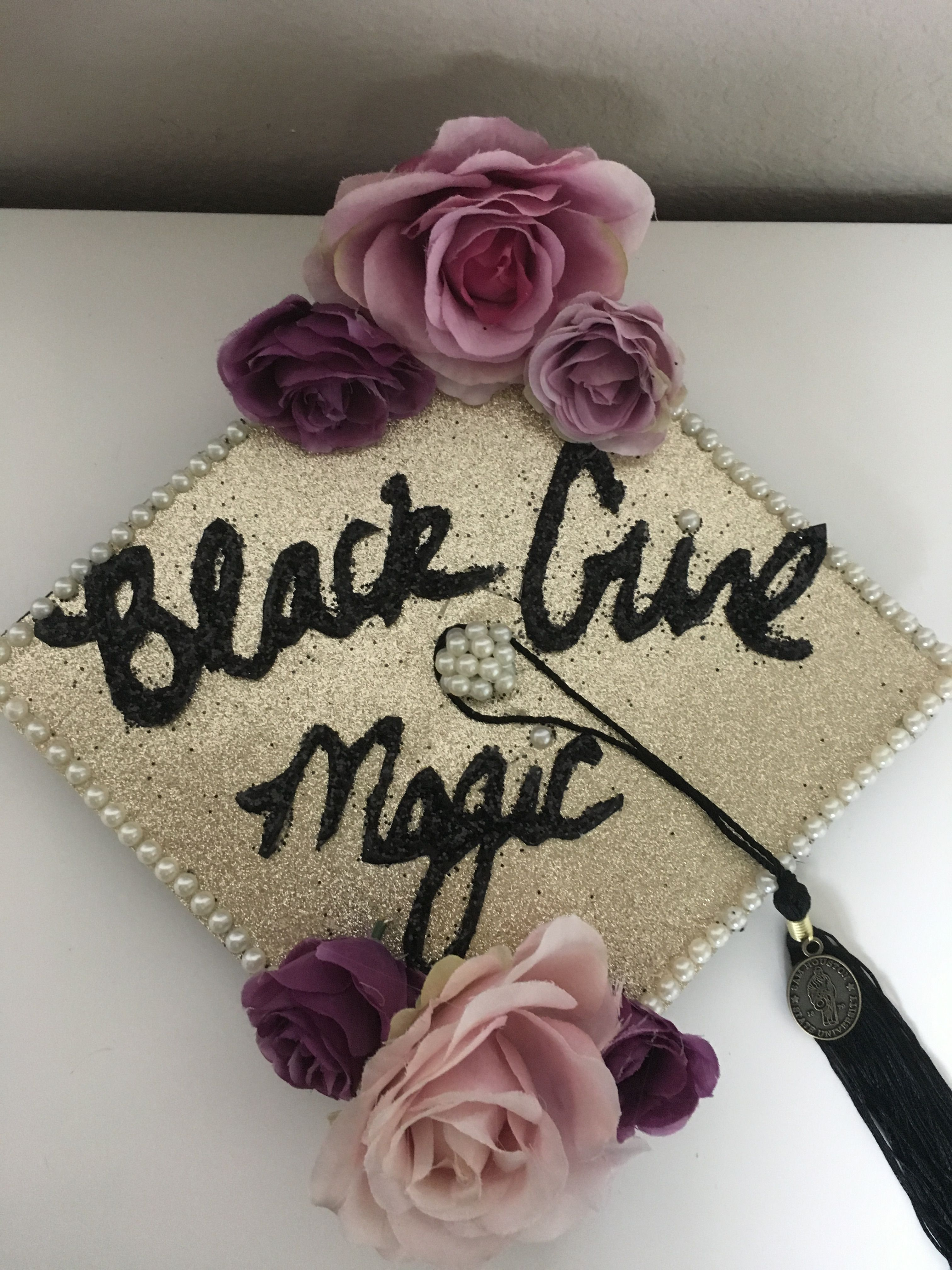 Black Girl Magic Grad Cap | Graduation cap decoration ...