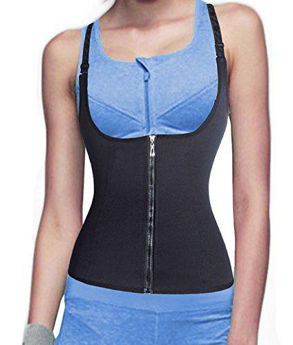 1b93f722118 waist cincher shaper slimmer zipper corset waist trainer hot sweat shapers  waisttrimmer slimming shirt shapewear for women slip tummy control  underwear ...