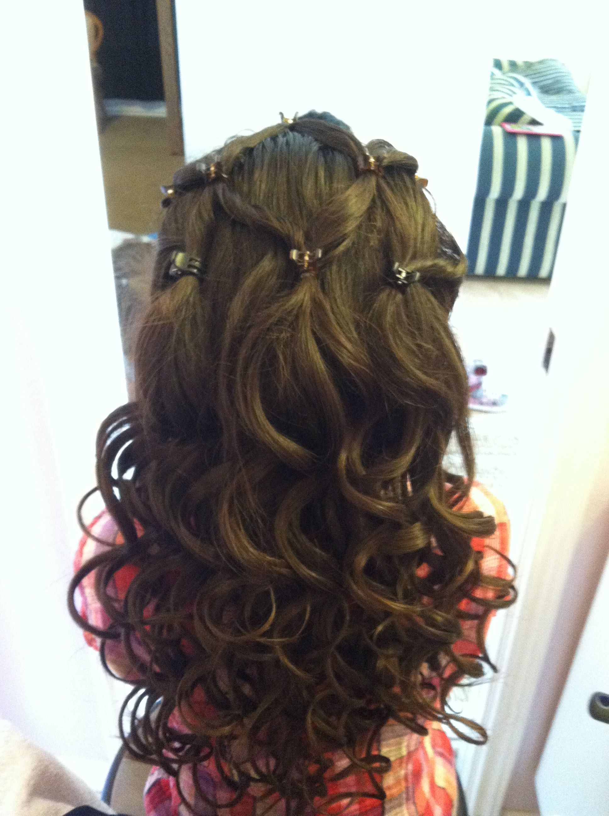 Flower Girl Hairstyles For Wedding: Flower Girl Hairstyle. I Jut Did My Niece Mia's Hair For A
