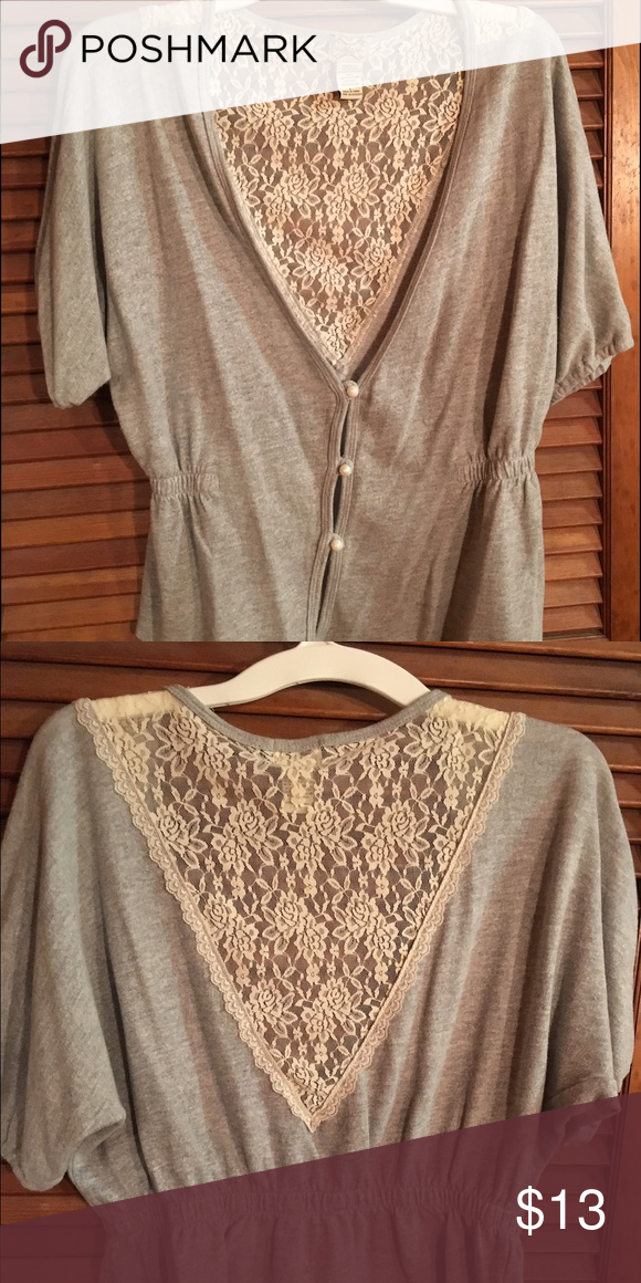 Short sleeved lace back sweater Short sleeved lace back sweater Sweaters
