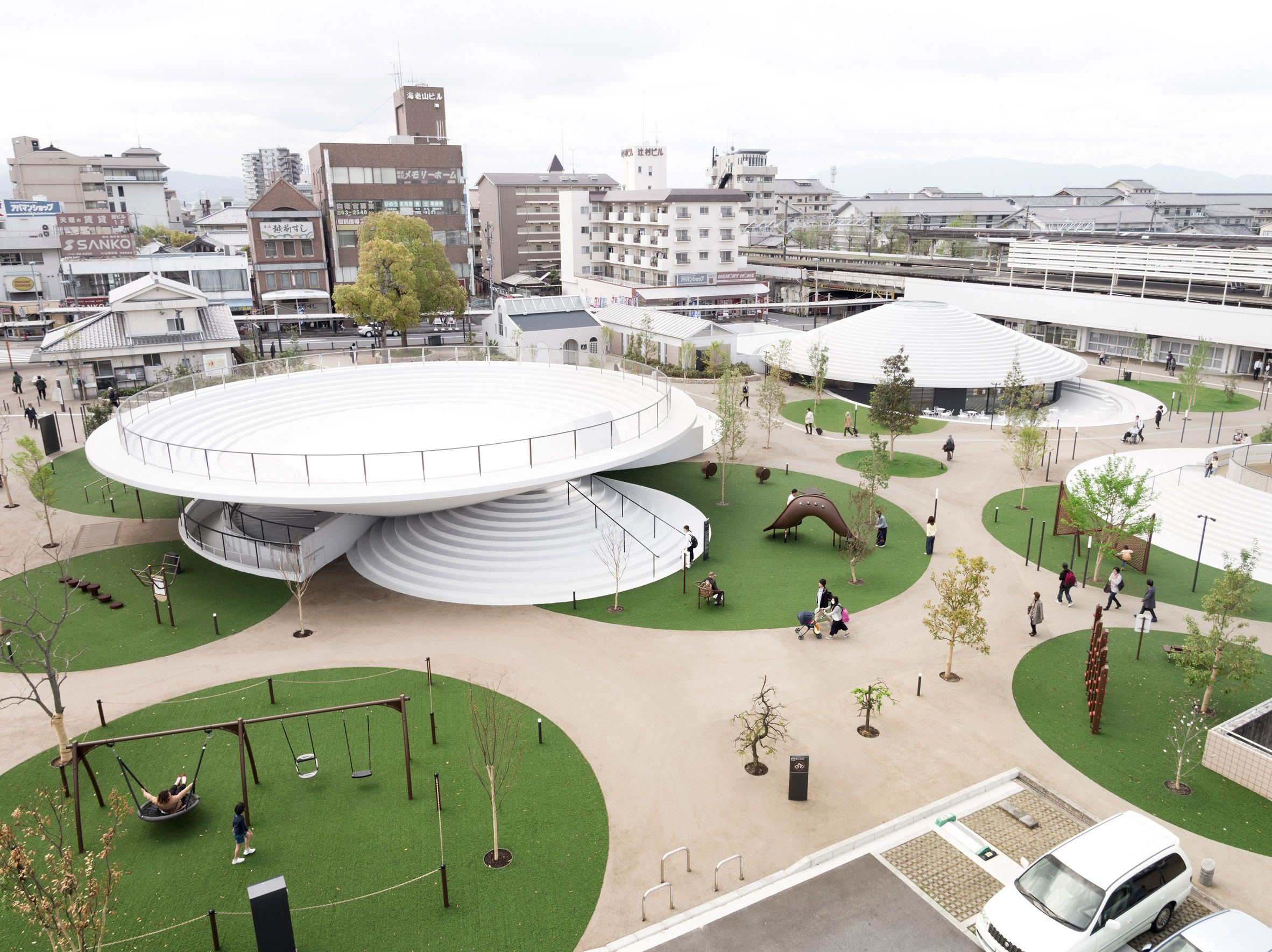 Japanese Landscape Architecture Nendo Looks To Ancient Japanese Tombs For First Landscape