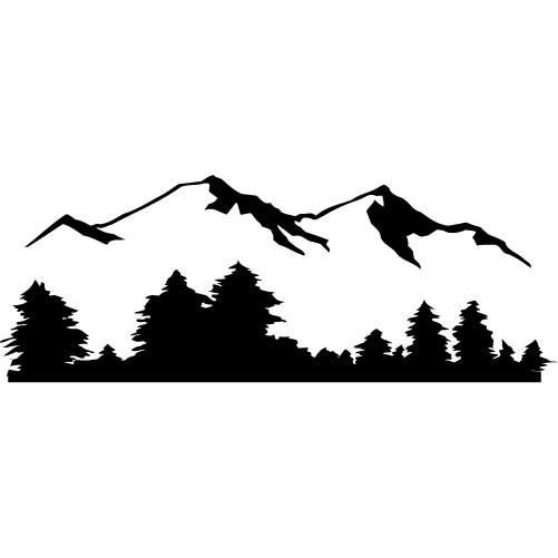 mountain view medium vinyl let s get crafty pinterest tree rh pinterest com mountain range clipart black and white mountain range outline clipart