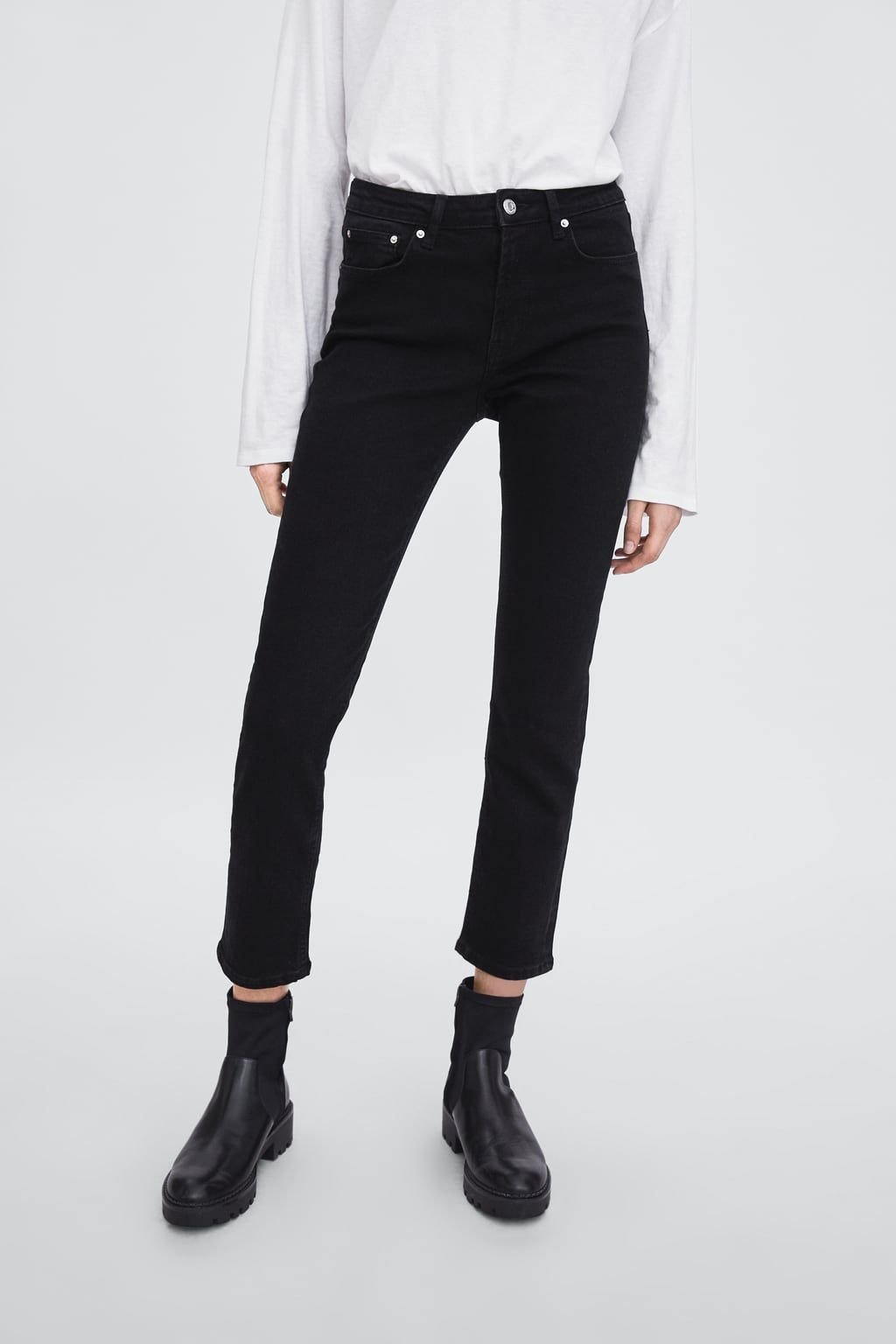 Image 3 of SLIM MID-RISE AUTHENTIC JEANS from Zara  0417d7bde40