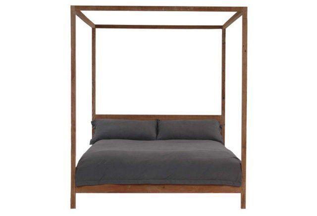 Strugess Canopy Bed, Natural