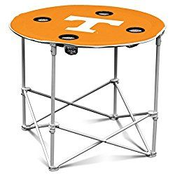 Tennessee Volunteers Collapsible Round Table With 4 Cup