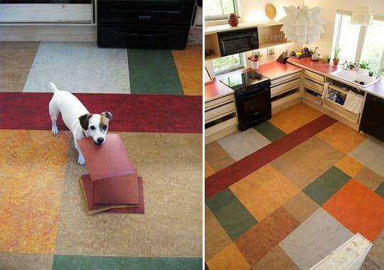 Look Leftover Marmoleum Kitchen Floor Vinyl Flooring Kitchen Kitchen Flooring Flooring