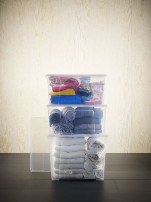 The Clear Choice For Storage. Sturdy SAMLA Boxes From IKEA Are An Organized  Personu0027s Best