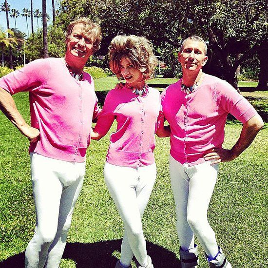 So You Think You Can Dance judges Nigel Lythgoe and Adam Shankman were dressed to the nines while filming a Prancercise video for Funny or Die