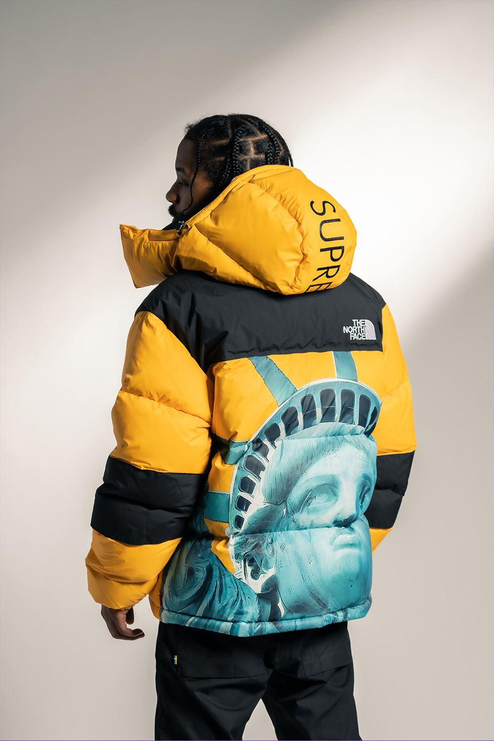Supreme Tnf Mountain Jacket Fw 19 Statue Of Liberty Su8176 In 2020 Streetwear Men Outfits Swag Outfits Men Jackets Men Fashion