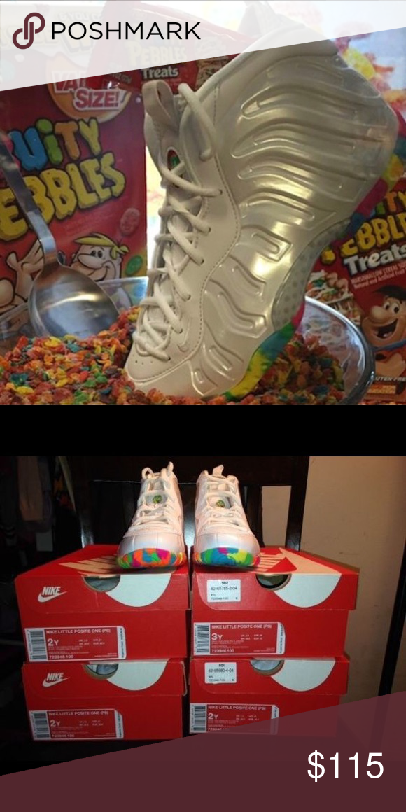 99f0008673e Nike Cereal Fruity Pebbles Foamposite Preschool 2Y The cereal-inspired  theme continues for kids with
