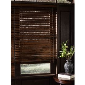 Shop Custom Size Now By Levolor Rustic Oak Wood Room Darkening Plantation Blinds Common Actual