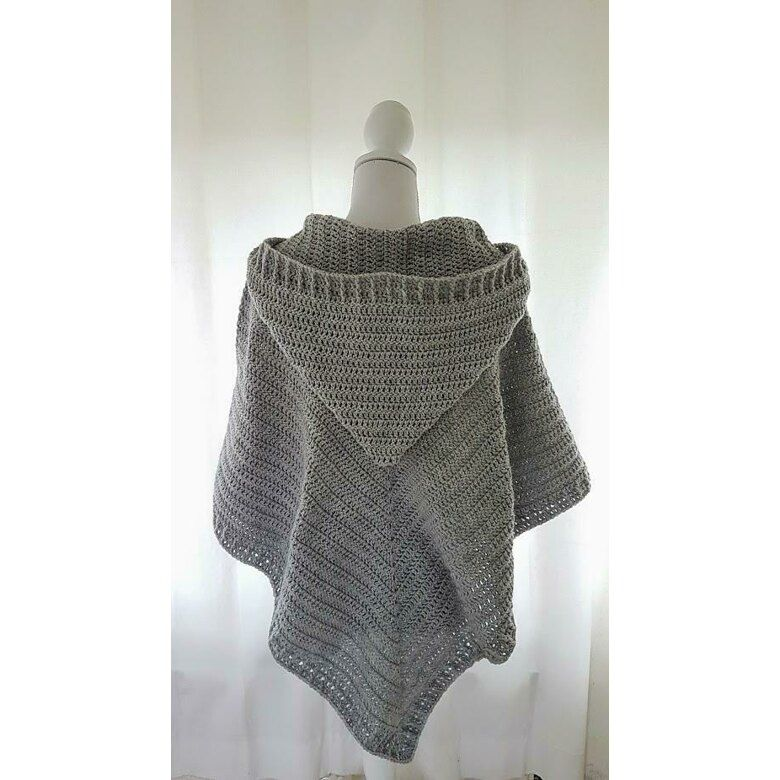 Hooded Poncho Crochet pattern by Frisian Knitting